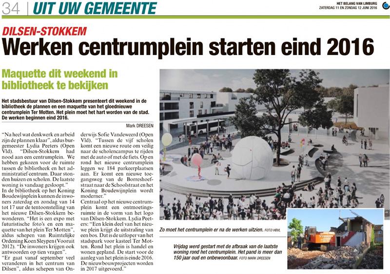 Centrumplein Dilsen Geotec hbvl