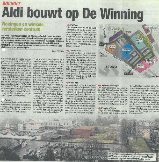 Bocholt De Winning krantenartikel