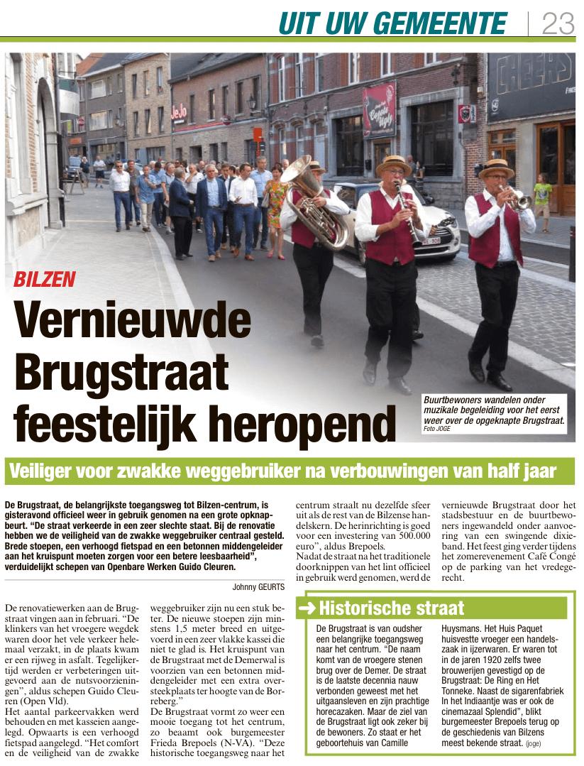 Vernieuwde Brugstraat feestelijk heropend