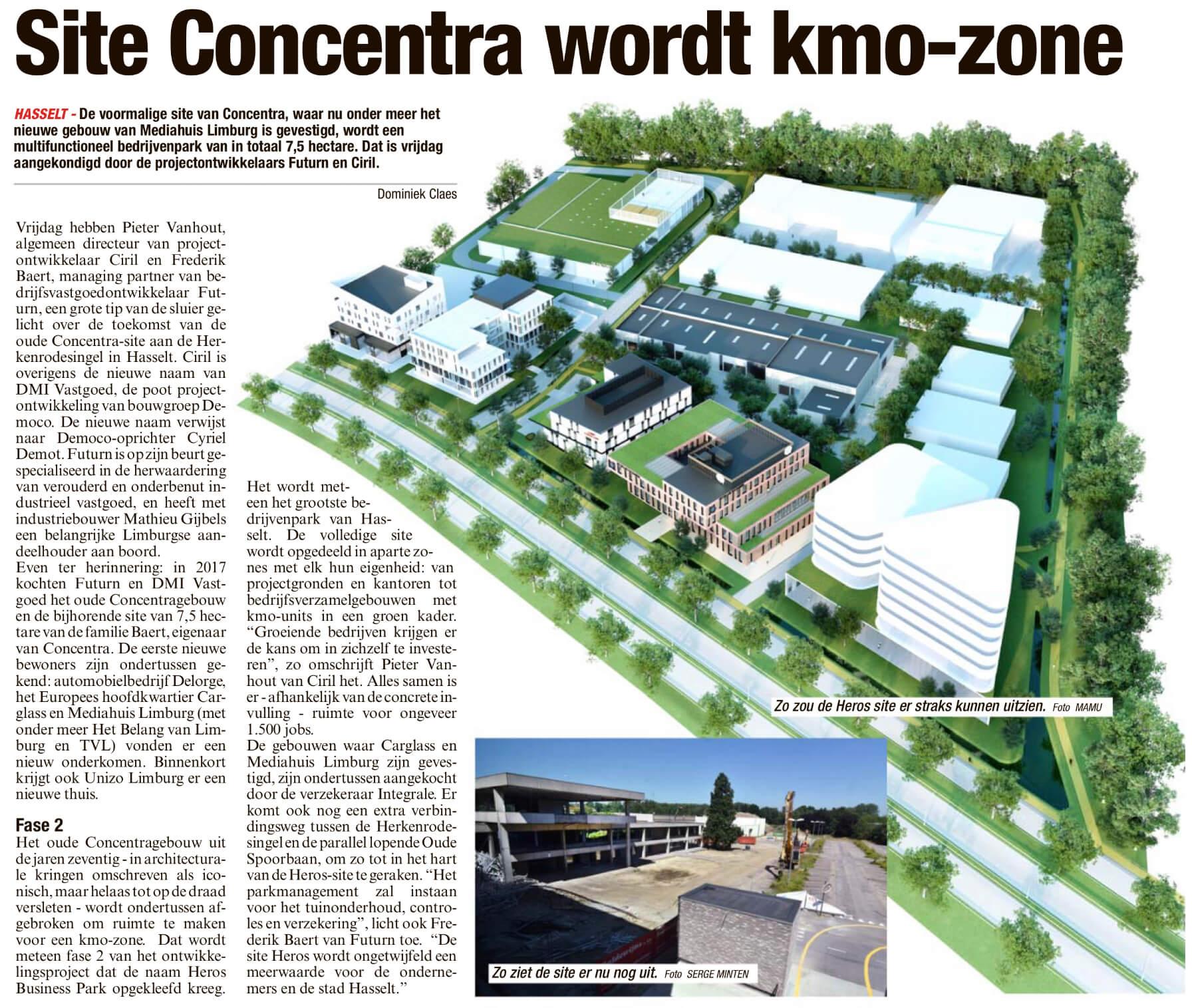 Site Concentra wordt kmo-zone